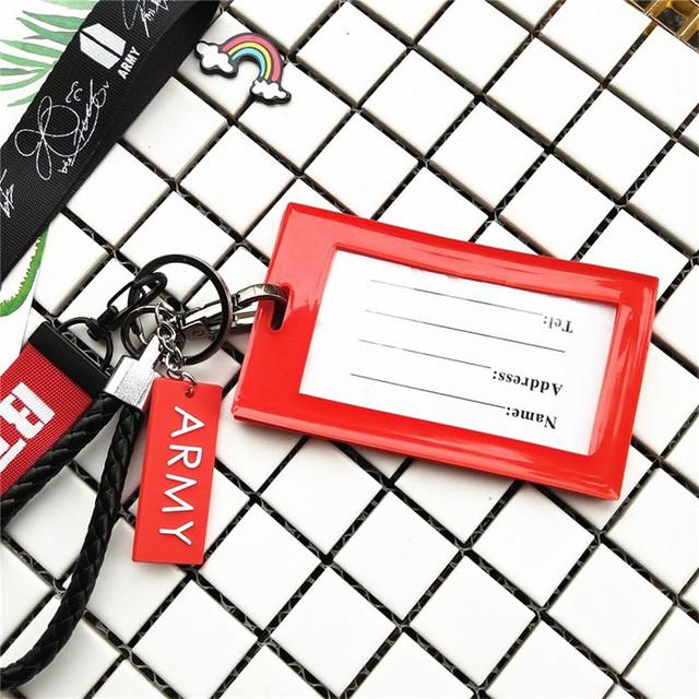 BTS Keychain Card Lanyard
