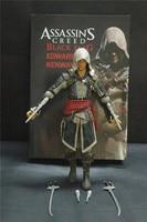 Wereldberoemde Video Game Assassins Creed 4 Black Flag Edward Kenna Action Figure Pro Gamer Collection Game Assessories Decoratie