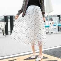 Новая летняя сетчатая юбка для беременных женщин с волнистой высокой талией, плиссированная юбка Феи для беременных, корейская модная юбка ...