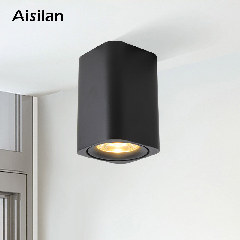 Flight Tracker Aisilan Led Surface Mounted Square Nordic Ceiling Downlight For Room/corridor/hallway/foyer Ac85-260v Cob Cube Spot Light With A Long Standing Reputation Downlights