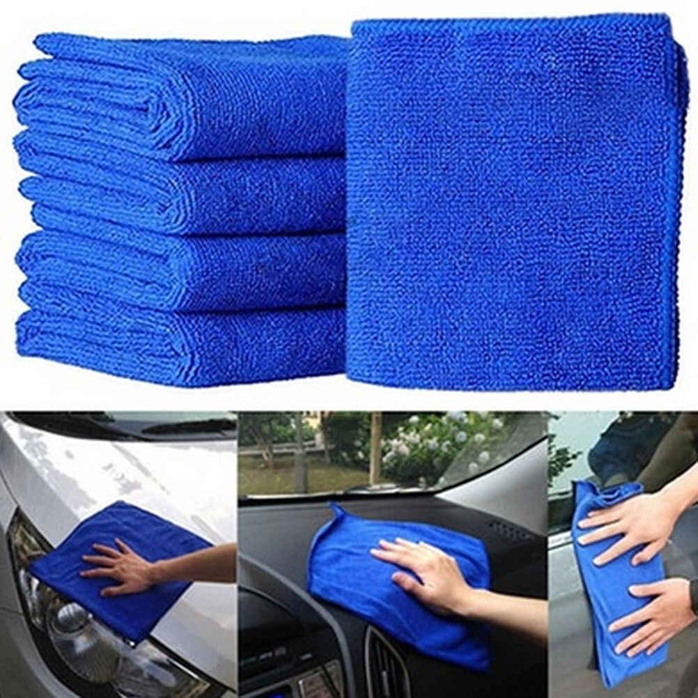 5pcs Auto Care 30cm x 30cm Microfiber Car Doekjes Car Care Microvezel Wax Polijsten Detaillering Handdoeken