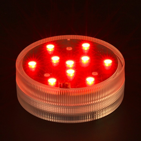 (12 Pcs/lot)Remote Controlled Waterproof 10-LED Light For Aquarium, Centerpiece, Vase Base Floral, Halloween, Christmas