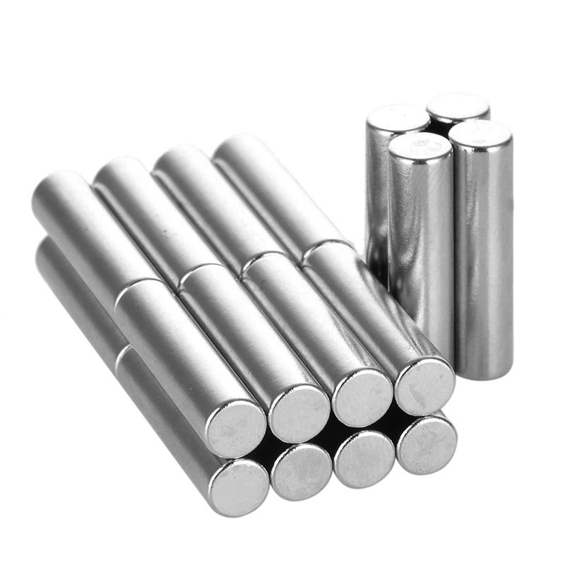 5 x 20mm Cylindrical NdFeB Magnet ND-FE-B Permanent strong magnetic small magnet sheet - Silver (20PCS/ pack) diy 5 x 5mm cylindrical ndfeb magnet silver 20 pcs