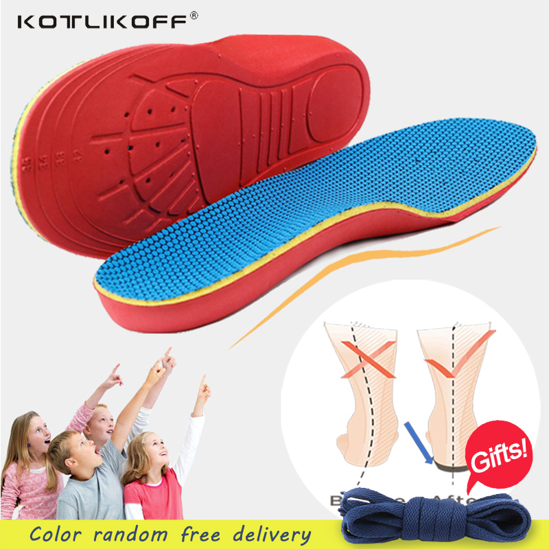 KOTLIKOFF Kids Children Orthopedic Insoles Shoes Flat Foot Arch Support Orthotic Pads Correction Health Feet Care scholl insole kids children pu orthopedic insoles for children shoes flat foot arch support orthotic pads correction health feet care w046