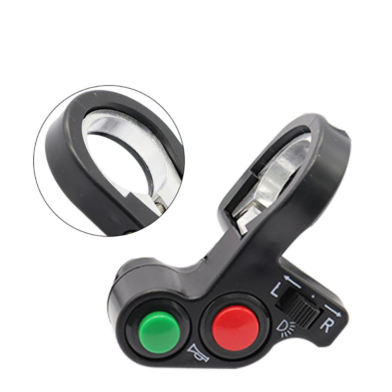 scooter accessories Motorcycle Horn Turn Signal Light <font><b>Switch</b></font> For 7/8'' Handlebar Dirt Bike Scooter <font><b>ATV</b></font> ON/OFF New image