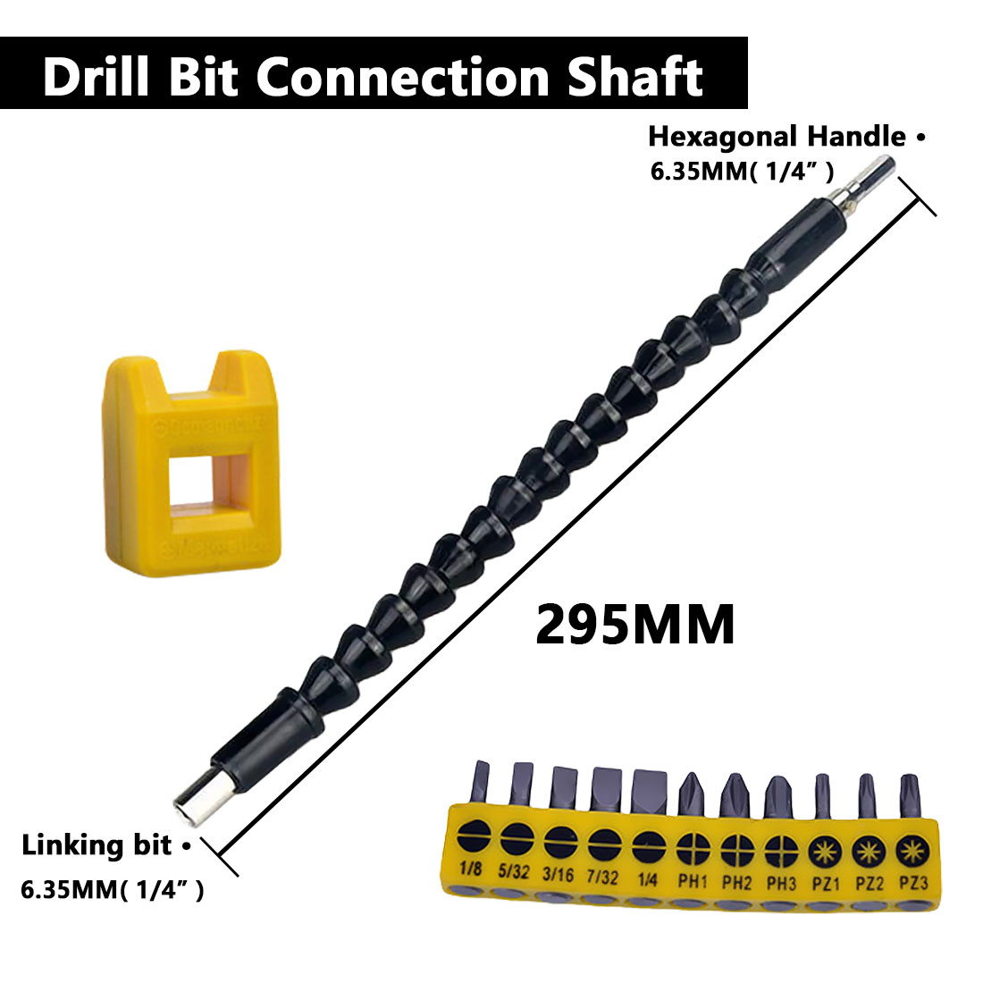 295mm Extention Electric Screwdriver Bit Holder Flex Shaft Connect Link Power Tool Accessories Electric Drill Flexible Shaft Bit