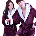 Lovers Robe Flannel Thickening Coral Fleece With a Hood Lounge Sleepwear Long-sleeve Autumn Winter Bathrobe Couples Bathrobes