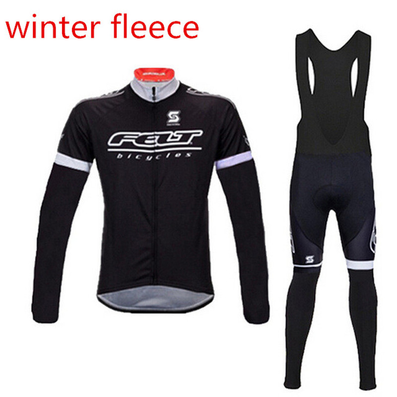 Men pro team Cycling Jersey Set Long Sleeve warmer Sports clothes Ropa Ciclismo Road Racing Winter Fleece Bicycle clothing