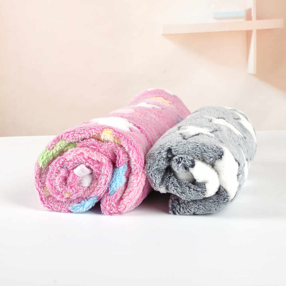 Winter Dog Blanket Cat Bed Rest Pad Foldable Pet Cushion Sleep Mat Hondenmand Coral Cashmere Sweet Dog Bed L4