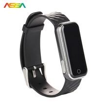Bluetooth 4.0 LED Смарт Часы Heart Rate Мониторы Для мужчин часы SMS вызова напомнить спортивная браслет часы наручные часы для IOS Android телефон