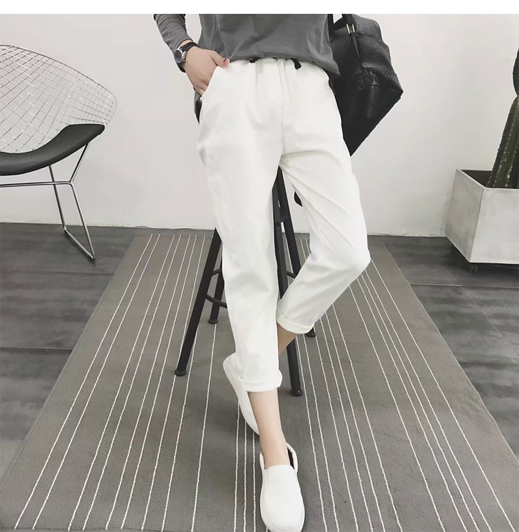Autumn New Casual Solid Harem Women Slim Trousers