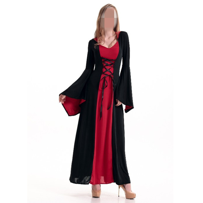 Halloween Costumes Hoodie Witch Costume Women Long Dress Cosplay Clothes Women 2016 Halloween Costumes 3 Colors