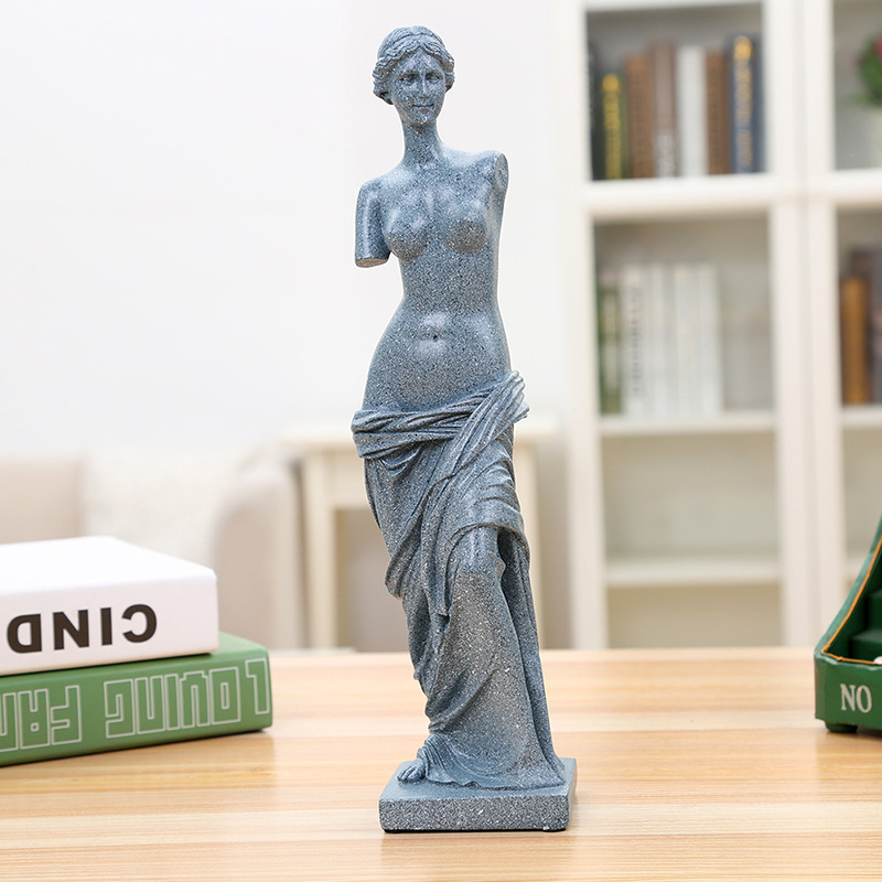 2 Color 31CM Nude Venus Milo Aphrodite Goddess Greek Statue Replica Resin Statue Non gypsum Statue Art Decoration