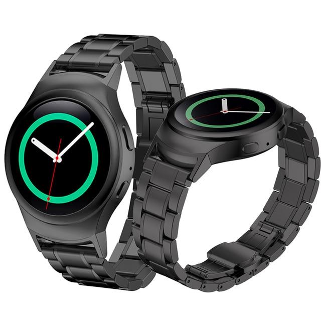 ¡ CALIENTE!! 2016 Batir vender!! 20mm de acero inoxidable reloj band + conector para samsung gear s2 rm-720 pulsera correa