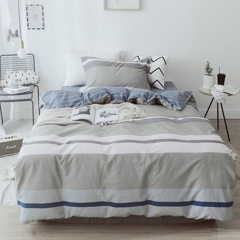 100% coton doux ensembles de literie linge de lit mode Simple Style ensemble de literie hiver pleine taille housse de couette ensemble de draps ensemble chaud