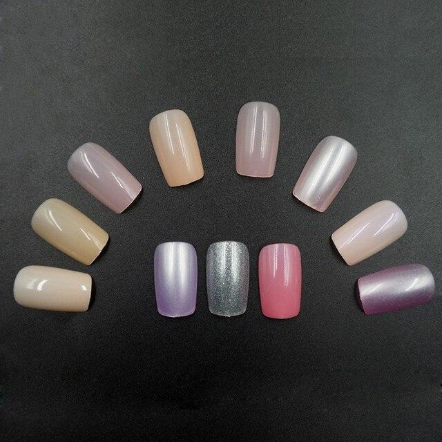 0030 Square Long Full Cover False Nail Tip Colorful Professional ...