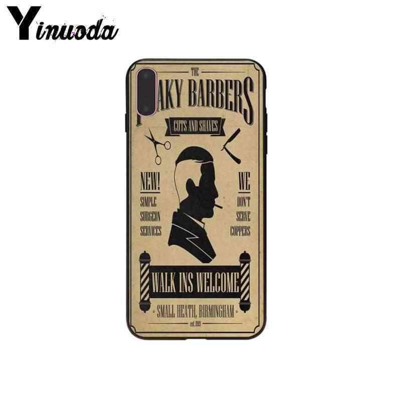 Yinuoda Peaky بليندرز خفيفة الوزن سيليكون هاتف محمول قذيفة لابل آيفون 5 5s SE 6 7 8 X XS ماكس XR غطاء الهاتف المحمول