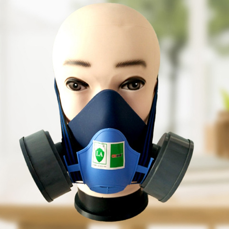 Industrial Safety Suits Respirator Gas Mask Spray Chemical Dust Filter Breathe Mask Paint Dust Half Gas Mask yihu gas mask blue two pot efficient respirator gas mask paint spray pesticides industrial safety protective mask
