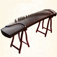 High Quality China Guzheng music Ebony Wood Blank embellish professional portable choose Zither 21 Strings With Full Accessories