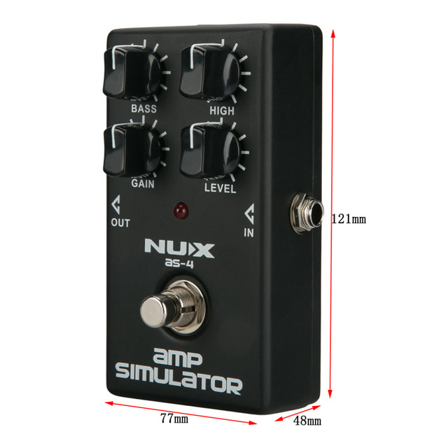 Mini Guitar NUX Distortion Effect Pedal Guitar Simulator Booster Professional Guitar Simulation Chorus Effect Device AS-4 new