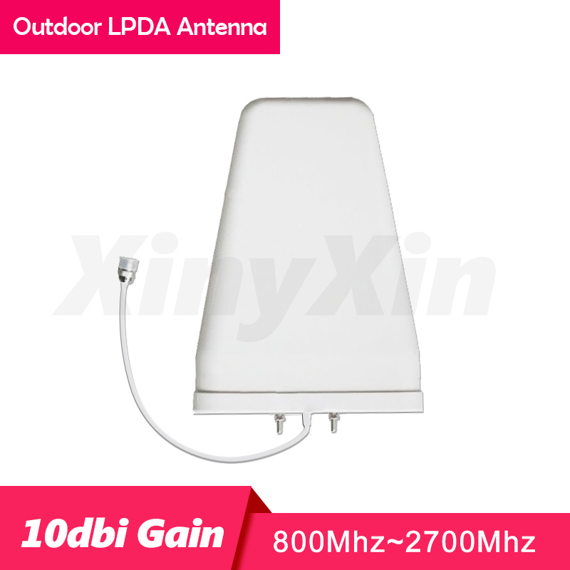 GSM 2G 3G 4G Outdoor Antenna LPDA 800-2700 Mhz Gain 10dBi  Log Periodic External Antenna Mobile Phone Signal Repeater Antenna