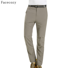 Facecozy Men Summer Outdoor Hiking Pants Quick Dry Camping Trousers Breathable Trekking UV Ultralight Pant