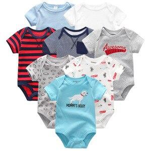 Image 5 - Baby Kleidung 8 Teile/lose Unisex Neugeborenen Jungen & Mädchen Strampler roupas de bebes Baumwolle Baby Kleinkind Overalls Kurzarm Baby kleidung
