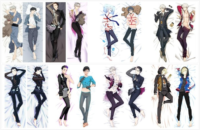 Body Pillow Covers.Us 17 59 20 Off Yuri On Ice Anime Decorative Male Otaku Pillowcases Dakimakura Hugging Body Pillow Cover Case In Pillow Case From Home Garden