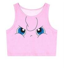 2018 Summer Harajuku Sexy Girls Cosplay Costume Pokemon Go Pocket Monster Sailor Moon Crystal Crop Tops Vest Tank Tops Shirt
