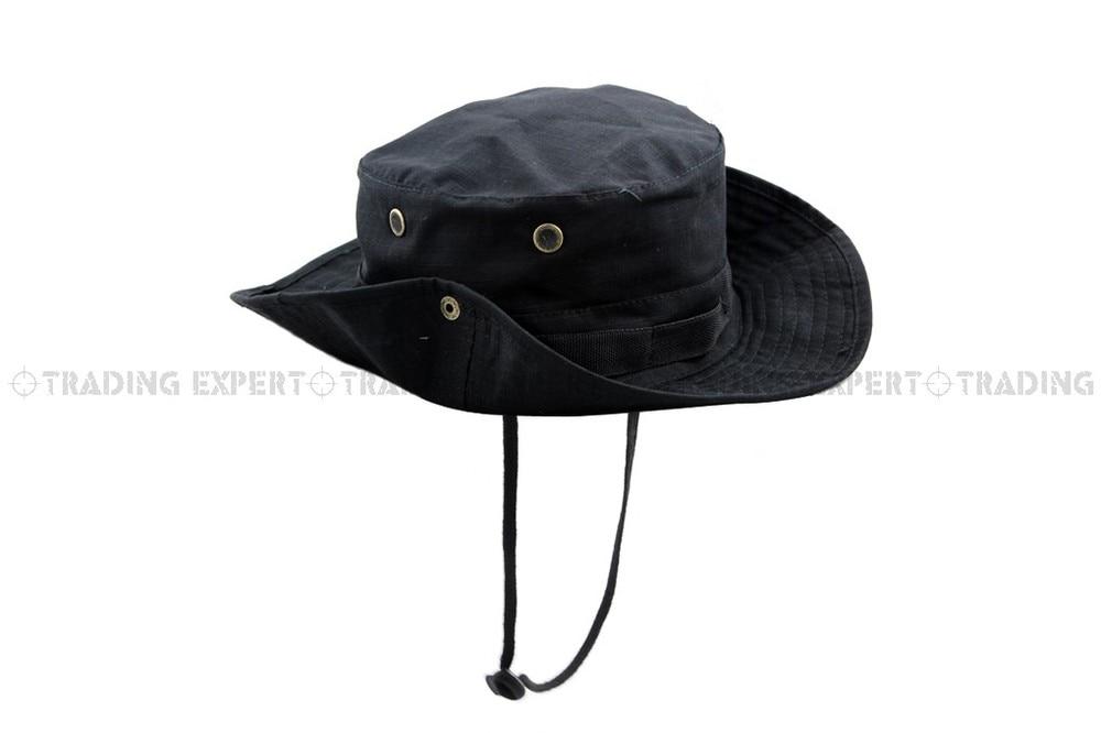 USMC спортивная мужская бейсбольная кепка Кепка и шляпа Multicam Boonie hat(CP ACU Woodland Green BK GW MD MU SC - Цвет: BK