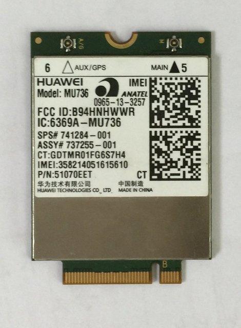 Huawei 3 G LTE módulo MU736 Quad band desbloqueado GPS NGFF at & t Swisscom DT para Ultrabook Tablet Laptop Pad