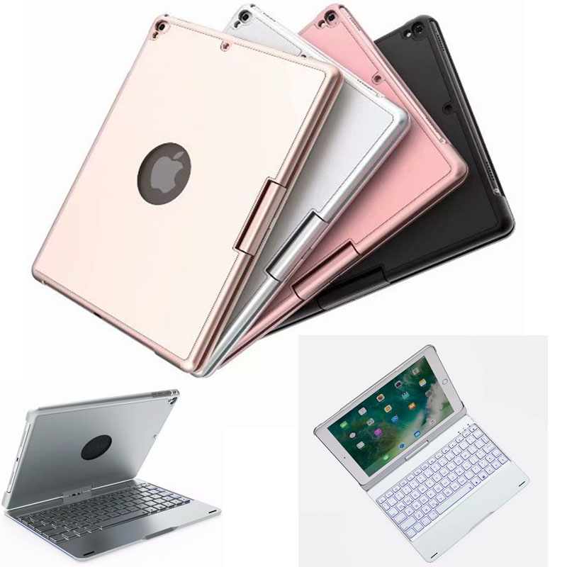 Wireless Bluetooth Keyboard Case Cover for new ipad 2017 2018 ABS Plastic 7 Colors Backlit Light Keyboard for iPad pro Air2 Air for ipad mini 4 backlit wireless 4 0 bluetooth keyboard 7 colors backlight ultra slim aluminum abs material a1538 a1550