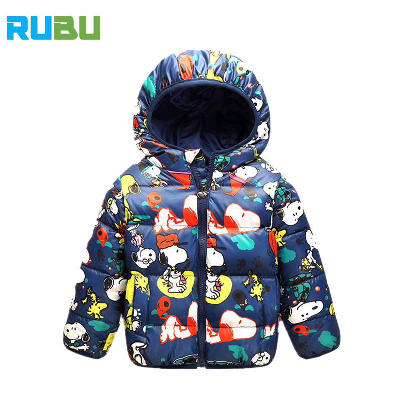 2017 Hooded Winter Kids Down Jacket Clothes Warm Boys Girls Jackets & Coats Baby Outerwear Children Clothing For 2-7 Yrs JSB430 children winter coats jacket baby boys warm outerwear thickening outdoors kids snow proof coat parkas cotton padded clothes