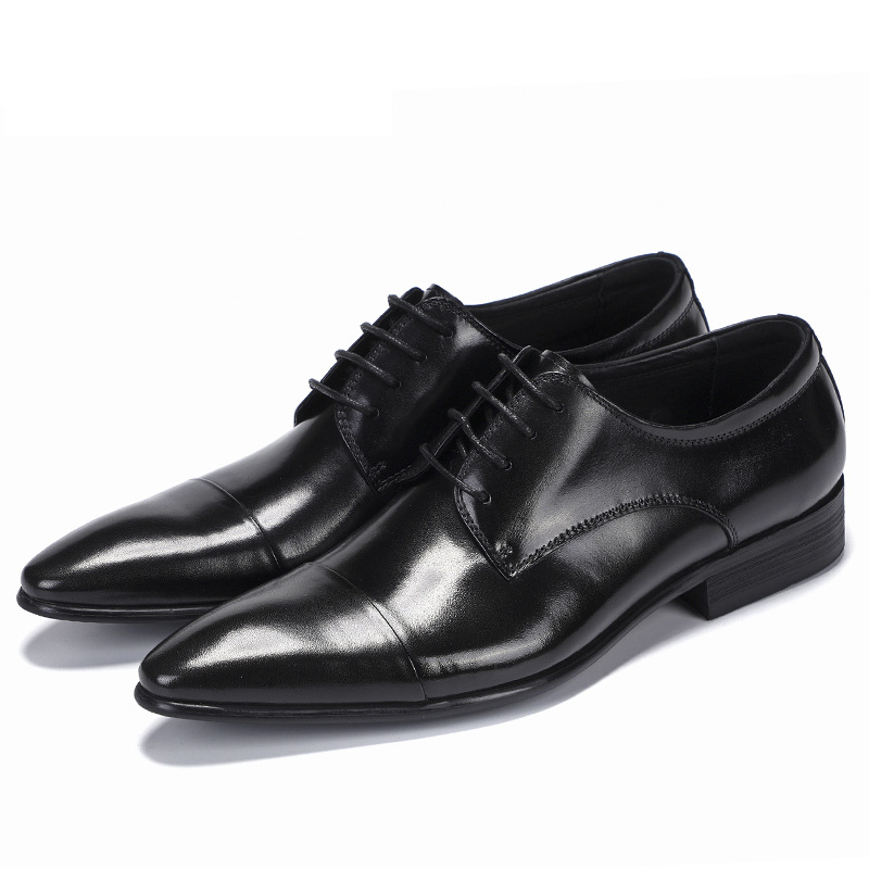 all match cowhide High Quality Genuine Leather Shoes Men Lace Up Business Men Shoes Men Dress Shoes Summer Spring in Formal Shoes from Shoes