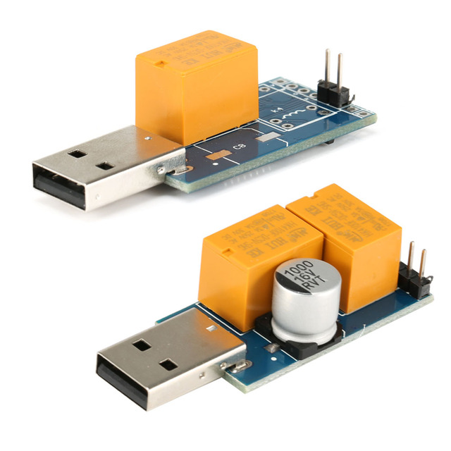 USB Watchdog Card Single/ Double Relay Blue Screen Unattended Automatic Restart for Computer Mining/Game/Server/BTC Miner EM88