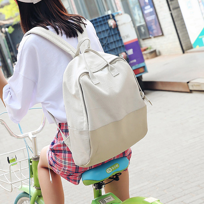 e1d954202c CETIRI Canvas Backpack Green Blue Patchwork Large School Bag Travel  Backpacks Teenage Girls Fashion Top Trends Back Pack Sac Dos-in Backpacks  from Luggage ...