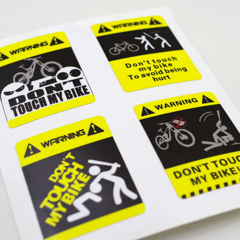 Mountain road Bike Dirt Stickers for MTB Warning don/'t touch mt bike race decals