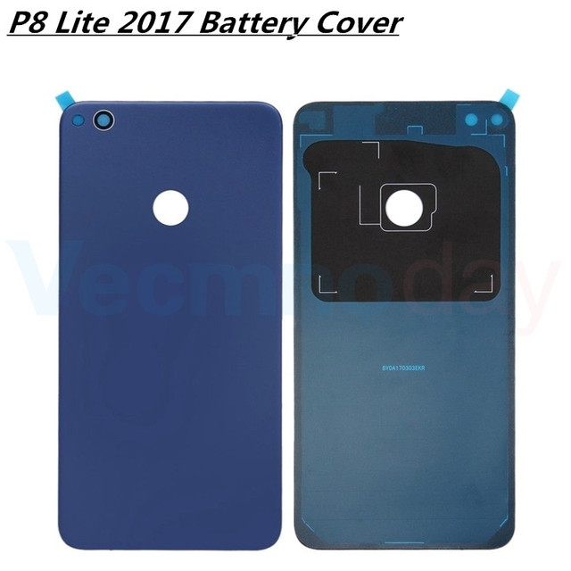 Vecmnoday For Huawei P8 lite 2017 PRA-LX1 PRA-LX3 PRA-LA1 Battery Cover Door Housing Case Rear Glass Replacement Repair Parts