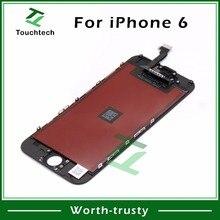 """100 шт 4,"""" ни место для iPhone 6 ЖК-дисплей планшета Ассамблеи AAA Качество черный/белый Дисплей Touch сменный ЖК-дисплей DHL"""