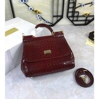 Роскошная брендовая красивая сумка тоут, красные и черные сумки, женская сумка на плечо из натуральной коровьей кожи, сумка мессенджер из на