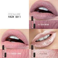 3Pcs Set Waterproof Colourful Matte Lip Gloss Non Stick Cup Beauty Lipgloss Matte Gloss Pearl Shiny