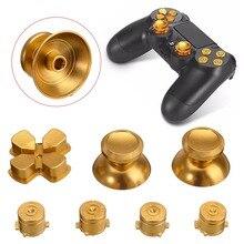 цены 1 Set Alloy Metal Bullet Buttons Thumbsticks Cap Kit For PS4 Controller Gamepad Controller