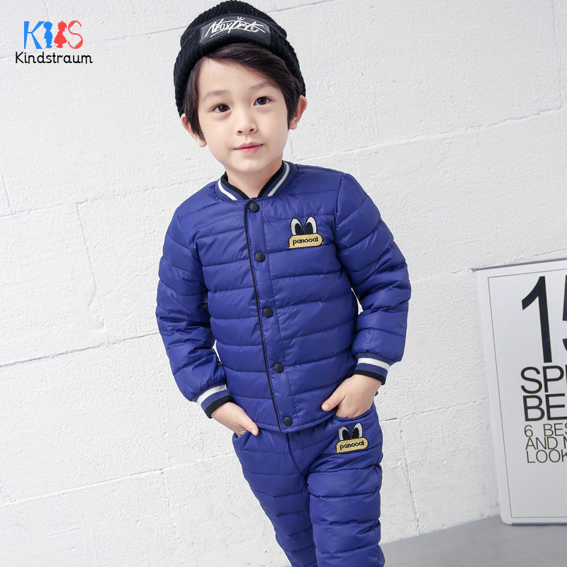 Kindstraum 2018 Winter Children Thick Cotton Suits Boys & Girls Cartoon Coat + Pant Fashion V-Neck Clothing Sets for Kids,RC1588 new 2017 baby clothing set cartoon kids apparel boys girls children hoodies and pant children s clothing sets for autumn