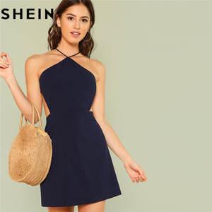 SHEIN Women Sexy Club Mini Dress 2018 Summer Party Short 91e6c4ba6c41