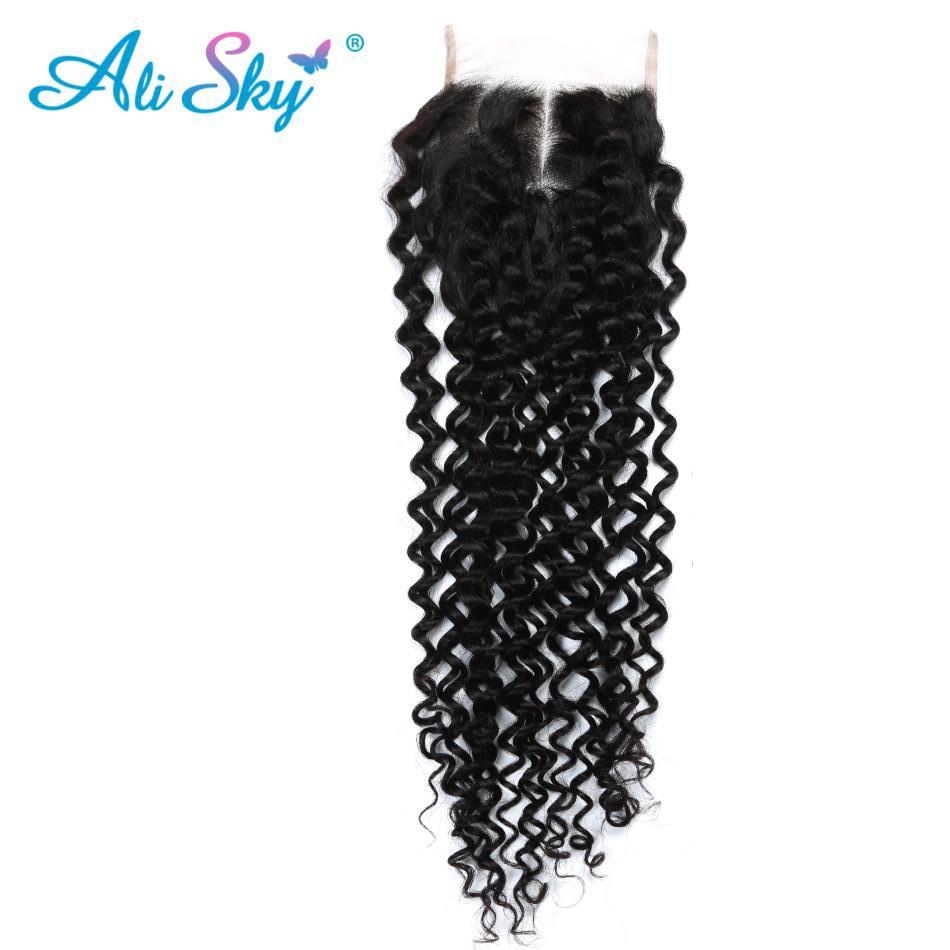 Ali Sky brasilianska afro Kinky Curly Hair Weave 4 Buntar Med - Mänskligt hår (svart) - Foto 6