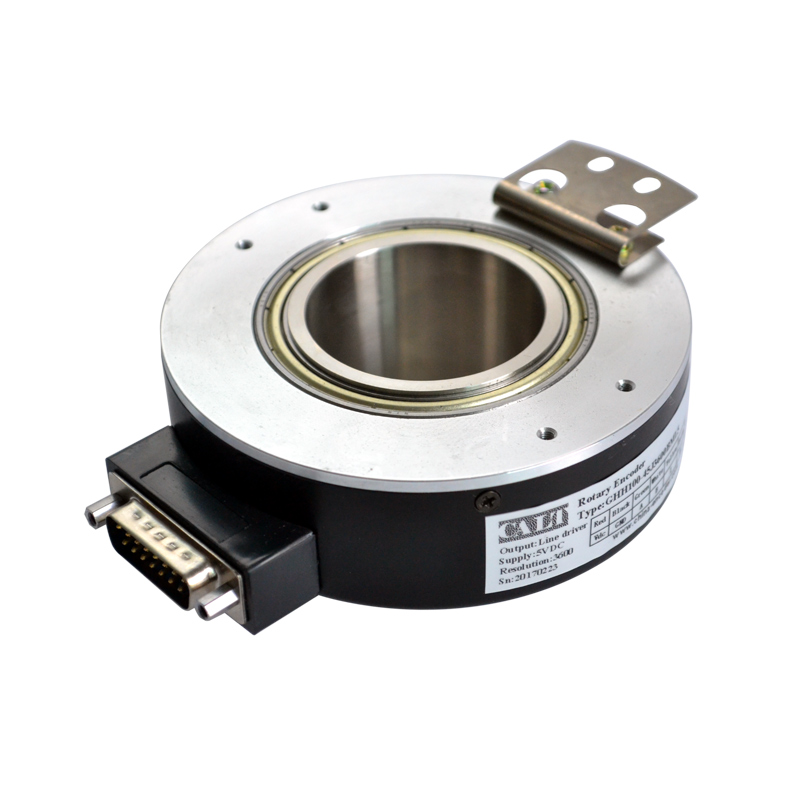 Factory GHH100 series 1024 3600 5000 pulse rotary encoder ABZ Phase Push pull 50mm hollow shaft