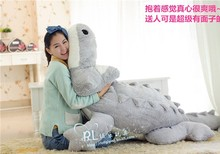 huge lovely plush gray crocodile toy stuffed cartoon Chinese alligator pillow birthday gift about 200cm