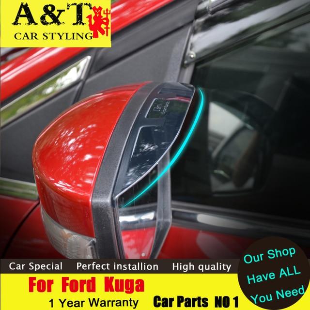 A & T estilo do carro Para Ford Kuga Escape espelho Retrovisor Chuva chuva sobrancelha aparar 2013-2015 Para Kuga escudo adesivos de carro especial