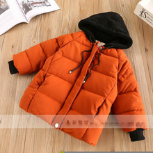New Fashion Warm Girl Winter Clothes Solid Color Jacket Children Clothing Windbreaker Jackets Hooded Children Thick Warm Coat