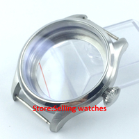 47mm stainless steel CASE fit 6497 6498 hand winding movement watch